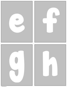"Language Arts - Alphabet Letter ""Rainbow"" Writing Cards"