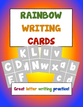 "Language Arts - Alphabet Letter ""Rainbow"" Writing Cards"