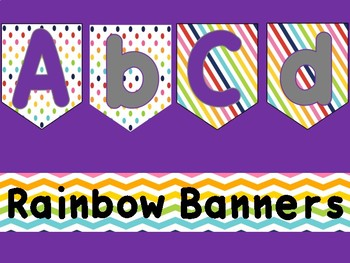 Rainbow Letter Banners