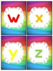 Rainbow Letter Cards Capital and Lowercase