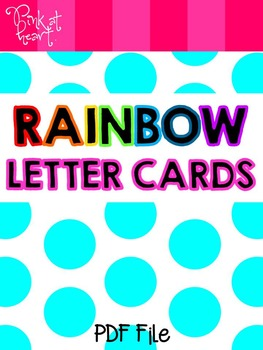 Rainbow Letter Cards FREEBIE