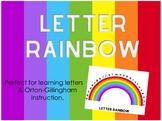 Rainbow Letter Chart - Orton Gillingham