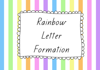 Rainbow Letter Formation