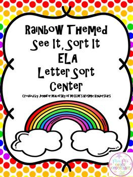 Rainbow SEE IT SORT IT Letter Match