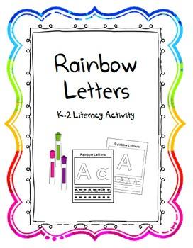Rainbow Letter Writing