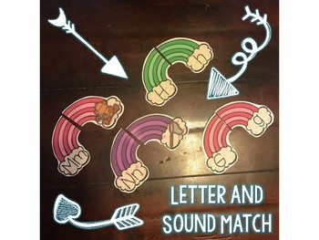 Rainbow Letter and Sound Match