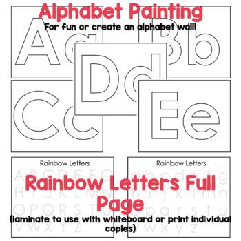 Rainbow Letters Alphabet Centre