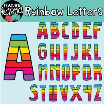 Rainbow Letters - Alphabet Clipart