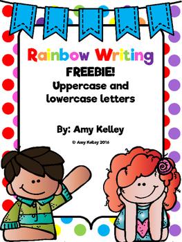 Rainbow Letters Alphabet Tracing Practice