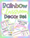 Rainbow Letters Classroom Decor