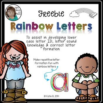 Rainbow Letters *Freebie*