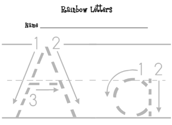 Rainbow Letters & Numbers