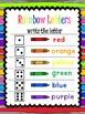 Rainbow Letters Handwriting Practice