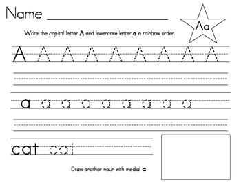 Rainbow Letters Writing Practice
