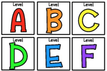 Rainbow Level (A-Z) Book Bin Labels (3x3)