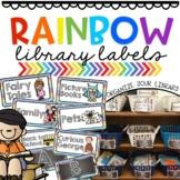 Rainbow Library Book Bin Labels *EDITABLE