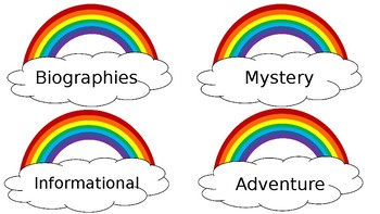 Rainbow Library Labels