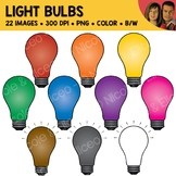 Rainbow Light Bulbs Clipart