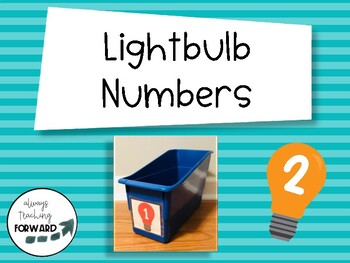 Rainbow Lightbulb Number Labels