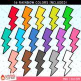 Rainbow Lightning Clip Art