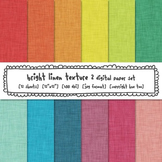 Rainbow Linen Texture Digital Backgrounds, Linen Digital P