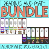 Rainbow Literacy & Math Station Rotation Automatic PowerPoint Bundle
