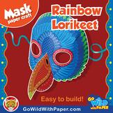 Rainbow Lorikeet Mask | Bird Printable Craft Activity