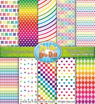 Rainbow Love Digital Scrapbook {Zip-A-Dee-Doo-Dah Designs}