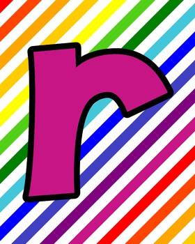 Rainbow Lower Case Alphabet Cards