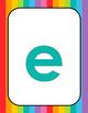Lowercase Rainbow Alphabet Posters