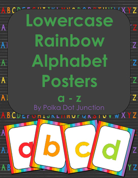 Lowercase Rainbow Alphabet Posters