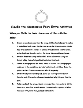 Rainbow Magic:Claudia the Accessories Fairy Daisy Meadows Comprehension Packet