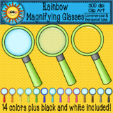 Rainbow Magnifying Glass Clip Art