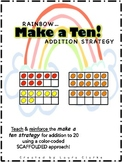 Rainbow Make a Ten Addition Strategy Center: First Grade C