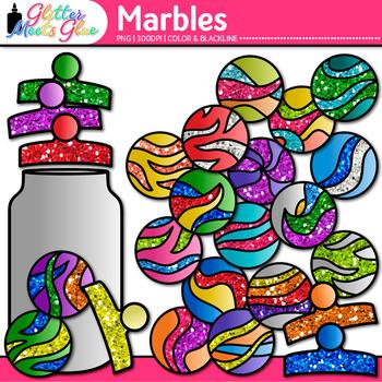Rainbow Marbles Clip Art | Compliment Jar Ideas for Classroom Community
