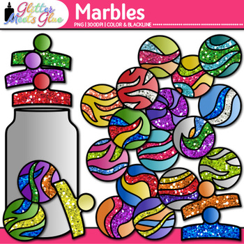 Rainbow Marbles Clip Art | Compliment Jar Ideas for Classroom Community