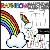 Rainbow Matching Mats and Activity Cards (Patterns, Colors, and Matching)