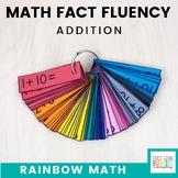 Rainbow Math: Addition Math Fact Fluency Flash Card System