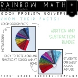 Rainbow Math: Addition and Subtraction Fact Fluency {A Fact Flash Card System}