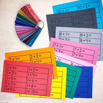 Rainbow Math: Addition and Subtraction Fact Fluency Flash Cards Bundle