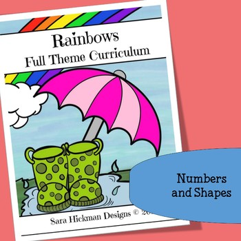 Rainbow Math Centers with Numbers and Shapes
