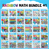 Rainbow Math Clipart Bundle #1