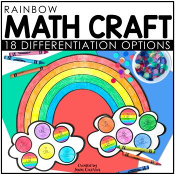 Rainbow Math Craft FREEBIE: 2 digit addition