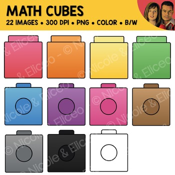 Math Cubes Clipart