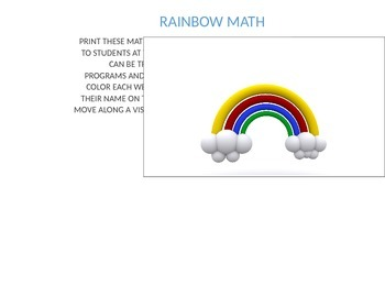 Rainbow Math Fact Fluency