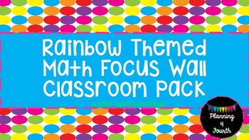 Rainbow Math Focus Wall-Titles and Banner