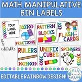 Math Manipulative Labels- EDITABLE!