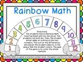 Rainbow Math - Math Station Game