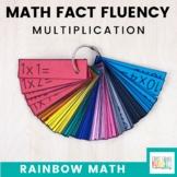 Rainbow Math: Multiplication Math Fact Fluency Flash Card System