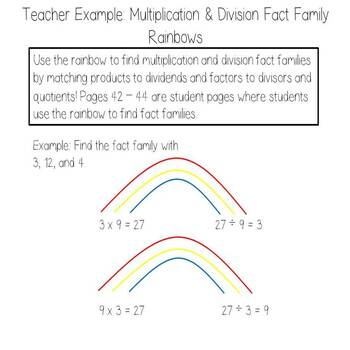 Rainbow Math - Multiplication and Division